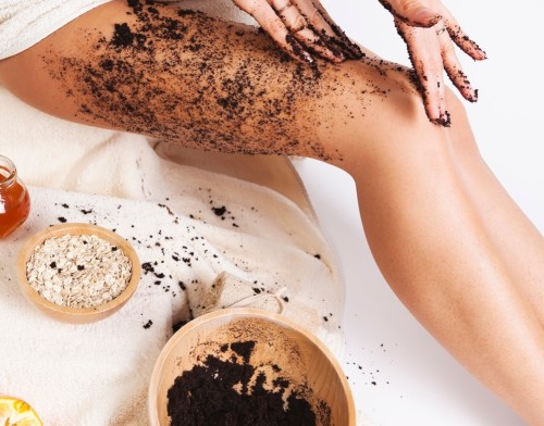 coffee scrub in bathroom